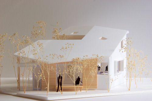雑木林と8つの家 1/50模型