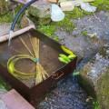 割いた竹を水に浸してあった。