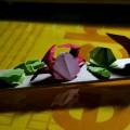 『折り紙生物スケッチ』から貝×4カニ1。 (用紙37.5x37.5 , 75x75)