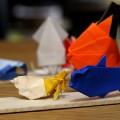 『折り紙生物スケッチ』からさかな2、ヤドカリ。 (用紙 75x75)
