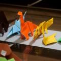 「恐竜のおりがみ〈1〉」 http://amzn.to/1O49NLD より、 三葉虫、カブトガニ、イクチオステガ、ブラキオサウルス、イクチオサウルス、ディメトロドン