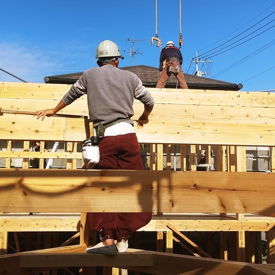桜ヶ丘の家 建て方