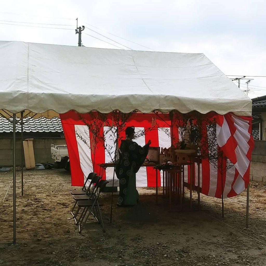 千年の家 地鎮祭