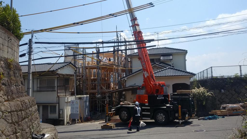 下竜尾町の家 建方